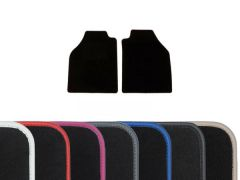 Luxury Carpet Floor Mats with Colour Edge Trim (2pc)