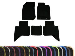 Classic Carpet Floor Mats with Colour Edge Trim (5pc)