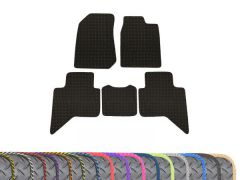 Heavy-Duty 3mm Rubber Floor Mats with Colour Trim (5pc)