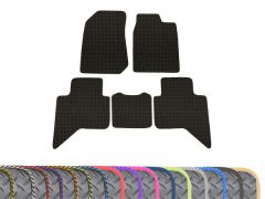 Super-Duty 5mm Rubber Floor Mats with Colour Trim (5pc)