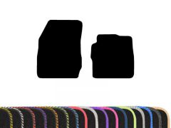 Classic Carpet Floor Mats with Colour Edge Trim (2pc)