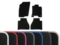 Luxury Carpet Floor Mats with Colour Edge Trim (4pc)