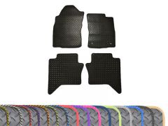 Super-Duty 5mm Rubber Floor Mats with Colour Trim (4pc)
