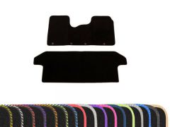 Tailored Carpet Floor Mats with Colour Edge Trim (2pc)
