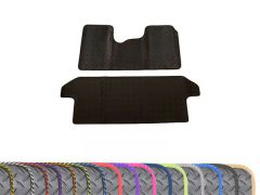 Super-Duty 5mm Rubber Floor Mats with Colour Trim (2pc)