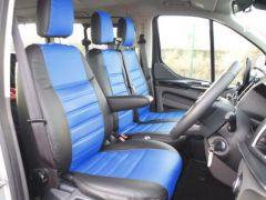 Leatherette Front Row Seat Covers in Black/Blue (1+2)
