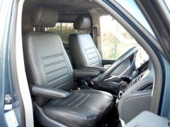 Leatherette Front Row Seat Covers in Black (1+1)