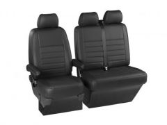 Leatherette Front Row Seat Covers in Black (1+2)