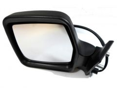 Left Hand Black Electric Heated Door Mirror (1pc)