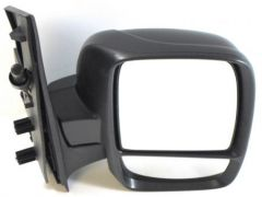 RH Twin Glass Black Manual Cable Door Mirror (1pc)