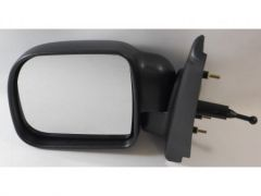 Left Hand Black Manual Cable Door Mirror (1pc)