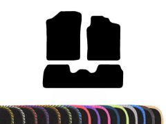 Classic Carpet Floor Mat with Colour Edge Trim (3pc)
