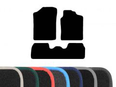 Premium Carpet Floor Mats with Colour Edge Trim (3pc)