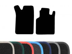 Premium Carpet Floor Mats with Colour Edge Trim (2pc)