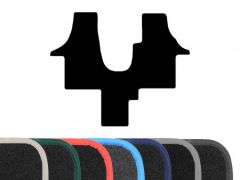 Premium Carpet Floor Mat with Colour Edge Trim (1pc)