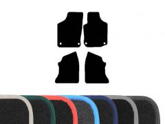 Premium Carpet Floor Mats with Colour Edge Trim (4pc)