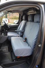 Tailored Front Row Seat Covers in Grey w/Armrest (1+2)