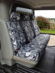 Tailored Rear Triple Bench Seat Cover in Grey Camo