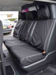 Tailored Rear Triple Bench Seat Cover in Black