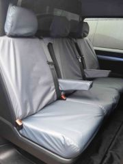 Tailored Rear Triple Bench Seat Cover in Grey