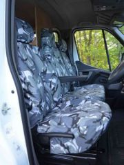 Tailored Front Row Seat Covers in Grey Camo (1+2)