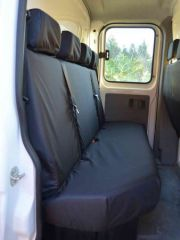 Tailored Rear 4 Seater Bench Seat Covers in Black