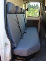 Tailored Rear 4 Seater Bench Seat Covers in Grey