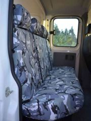 Tailored Rear 4 Seater Bench Seat Covers in Grey Camo