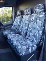 Tailored Front Seat Cover in Grey Camo w/Work Tray (1+2)