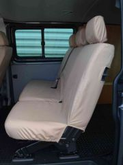 Tailored Rear Bench Seat Cover in Beige (1+2)