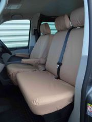 Tailored Front Seat Covers in Beige w/Armrests (1+2)