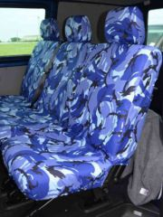 Tailored Mid Row Triple Seat Covers in Blue Camo