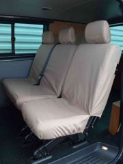 Tailored Mid Row Triple Individual Seat Covers in Beige