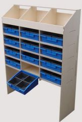 Van Guard Ply Racking 3 Pigeon Hole, 4 Shelves, 12 Trays