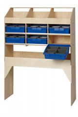 Van Guard Ply Racking 3 Pigeon Holes, 1 Shelf & 6 Trays