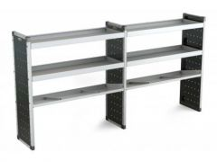 Van Guard Aluminium Racking 4x Flat, 2x Angled Shelves