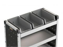 Van Guard 3x Bins & Rubber Matting for 750mm Racking
