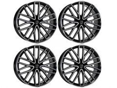 "Wolf Design GTP 20"" Gloss Black & Polished Alloy Wheels"