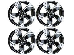 "Wolfrace AD5 18"" Gloss Black & Polished Alloy Wheels"